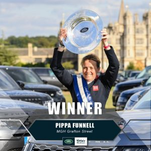 Pippa Funell wins Burghley Horse Trials