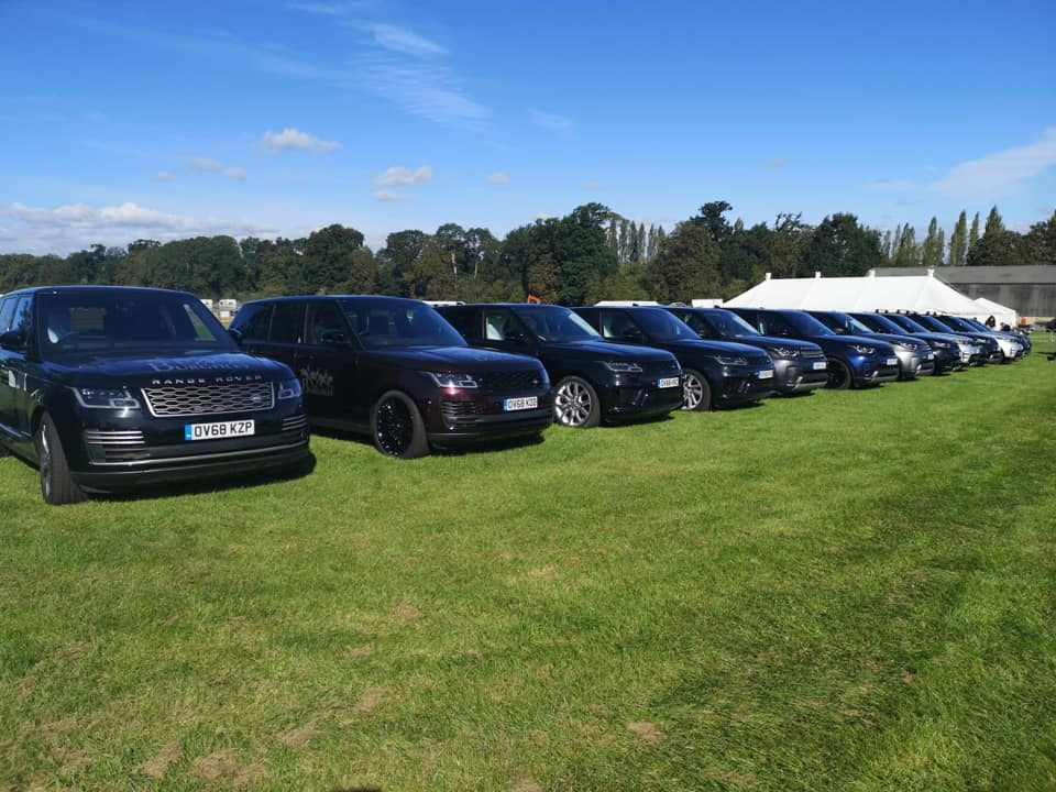 Burghley Horse Trials 2019 - the Landrover fleet is ready!